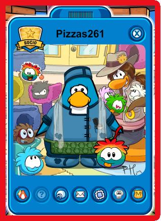 pinguino con puffle multicolor
