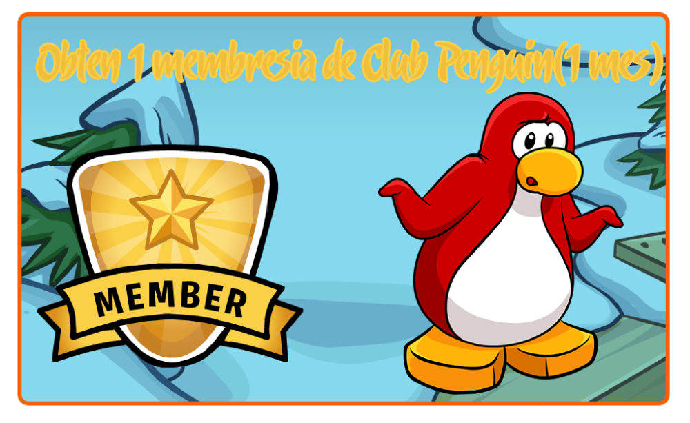 Obten una membresia de Club Penguin (1mes) (1/5)