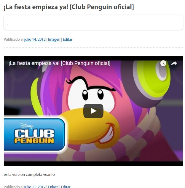¡Gracias Por Todo! Mario Penguin Cumple 4 Años